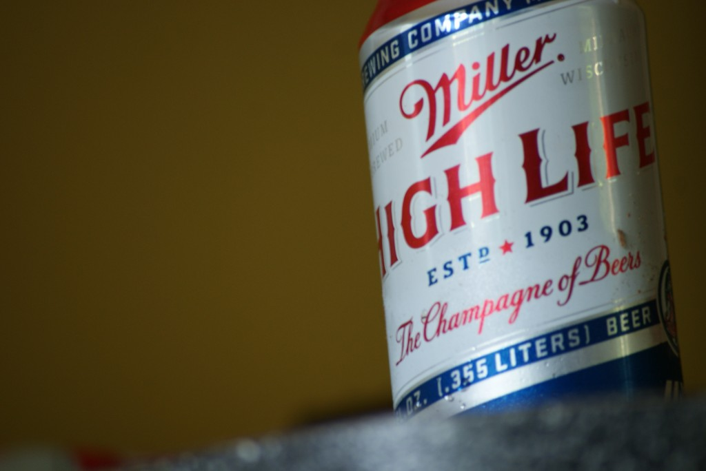 Miller beer can